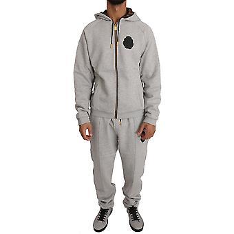Gray cotton sweater pants trac57128535