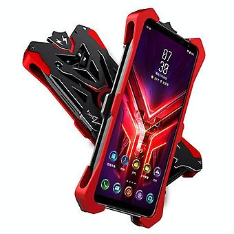 For Asus ROG Phone 3 ZS661KS Hammer II Shockproof Metal Protective Case(Black Red)