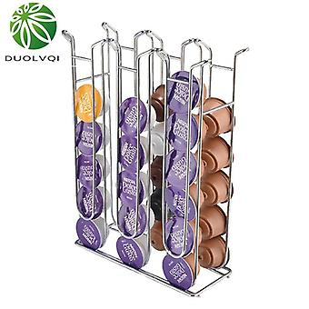 Duolvqi Metal Capsule Coffee Pod Holder Tower For Dolce Gusto Iron Chrome