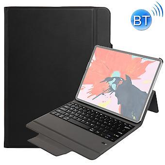 T130 12,9 tuuman iPad Pro (2018) Erittäin ohut yksiosainen muovinen Bluetooth-näppäimistön nahkakansi jalustatoiminnolla (musta)