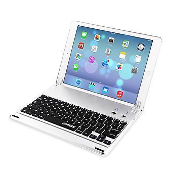 Arteck ipad 9,7 polegadas (ipad 6, 2018/ipad 5, 2017) teclado, estojo de folio de teclado bluetooth ultrafino