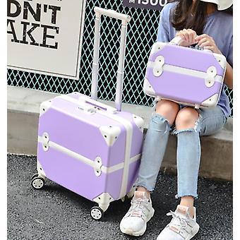 Cabin Travel Suitcase Retro Transporter de petits sacs de voyage chariot à bagages roulants