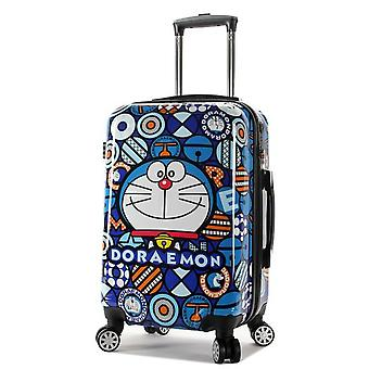 Doraemon Cartoon  Rolling Luggage Bag