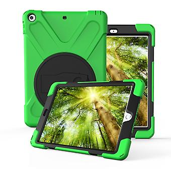 For Huawei MediaPad M5 10.8  360 Degree Rotation PC + Silicone Protective Case with Holder & Hand-strap(Light Green)