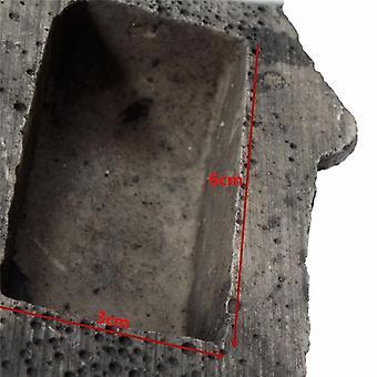 Utendørs hage nøkkel boks rock skjult skjul i stein sikkerhet sikker lagring