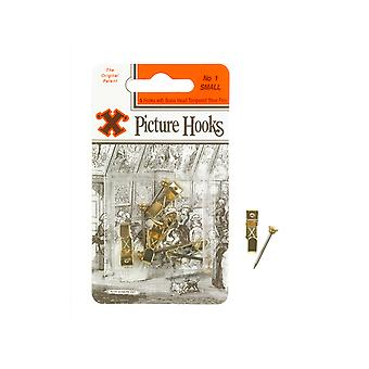 Shaw X Picture Hooks Brass Plated No.1 x 50 12884