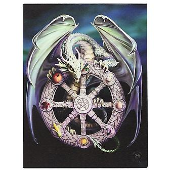 Anne Stokes Wheel Of The Year Canvas Plaque