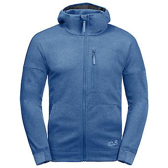 Jack Wolfskin Riverland Mens Hooded Jacket Blue Track Top 1707231 1255