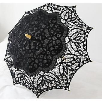 Paraguas de bordado de paraguas de encaje beige paraguas de boda