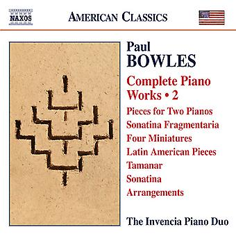 Bowles, P. / Kasparov, Andrey / Lutsyshyn, Oksana - Bowles: Complete Piano Works 2 [CD] USA import