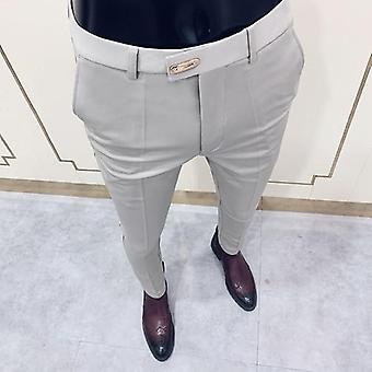 Men's Suit Pants Fashion Casual Slim Business Dress