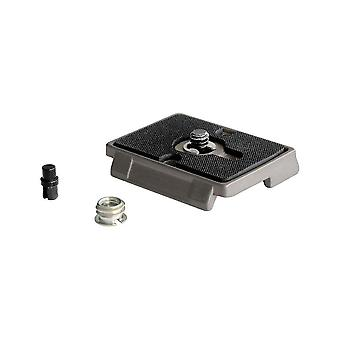 Manfrotto 200pl, quick release plate with 1/4 inch screw, compatible with dslr, compact system camer