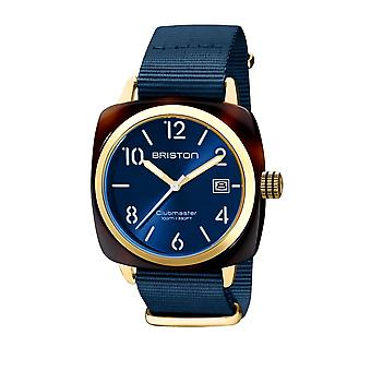Briston 20240.PYA.T.33.NMB Clubmaster Classic Acetate Wristwatch Blue