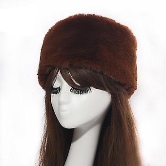 Dicke flauschige Nachahmung Fuchs Pelz Hut Stirnband
