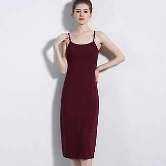 Women's Camisoles Full Slips Dress With Shoulder Straps, Long Under Dresses