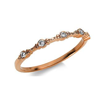 Luna Creation Promessa Ring Multiple Stone Trim 1U472R854-3 - Szerokość pierścienia: 54