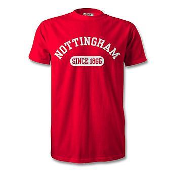 نوتنغهام فوريست لكرة القدم عام 1865 أنشأت تي شيرت