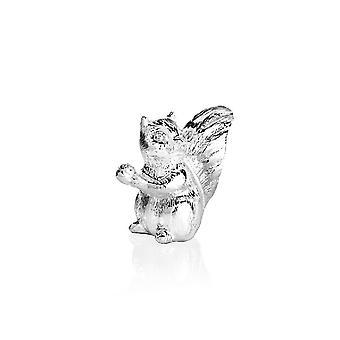 Tischdekoration Eichhörnchen Silber Farbe Harz, Silber, A5,2 cm