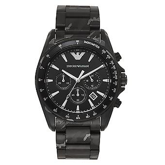Armani Ar11027 Black Camo Stainless Steel Men's Chronograph Watch