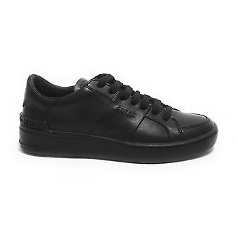 Mäns skor Gissa Sneaker Verona i svart läder Us21gu01 Fm5veslea12