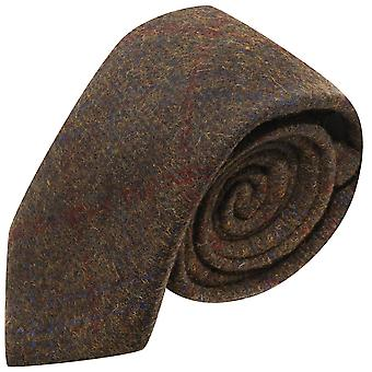 Patrimonio cheque corbata marrón de la tierra