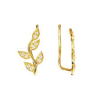 diamant blad øre klatrer gull