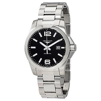 Longines Conquest Black Dial Stainless Steel Men's 43mm Watch L37604566