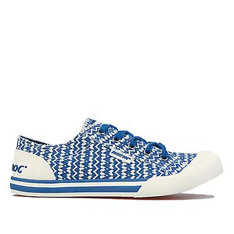 Mulheres''s Rocket Dog Jazzin Baja Stripe Pumps in Blue