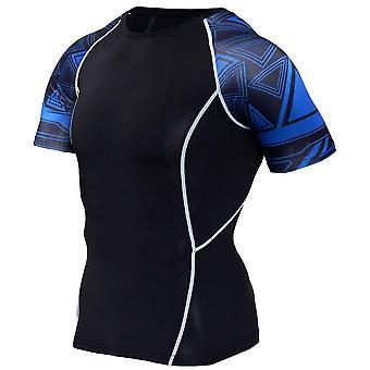 Men Sportswear Tracksuit Short Sleeve Running T-shirt Running Shorts Suits