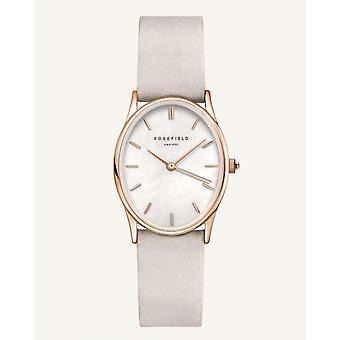 Reloj de mujer OWGLR-OV07 THE OVAL Rosefield Watches - Pulsera de cuero gris