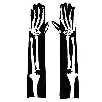 Long Simulation Skeleton Cosplay Gloves Halloween Scaring Toys
