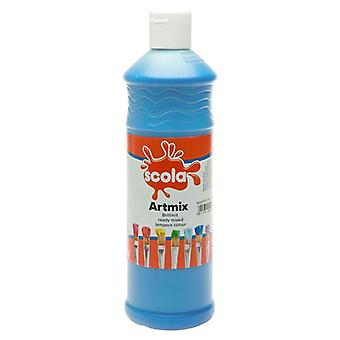 Scola Artmix Ready Mixed Tempera Paint 600ml (Sky Blue)