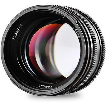 FengChun 50mm F1.1 APS-C Große Blende Manueller Fixfokus Objektiv, Standard Prime Objektiv für Alle
