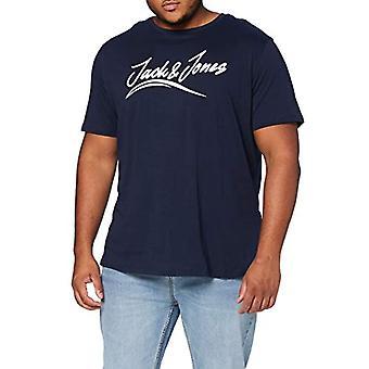 JACK & JONES JORFLEXER SS Tee 2 Pack PS Shirt, Black/Pack:with Navy Blazer, EU6XL US4XL Men's