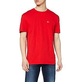 Tommy Jeans Tjm Solid Jersey Tee Kortärmad T-shirt, Röd (Deep Crimson Xnl), Medium Men's