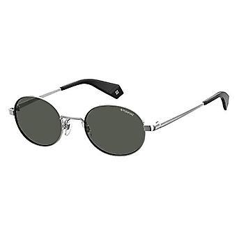 Polaroid Eyewear PLD 6066/S Aurinkolasit, Silv Blk, 51 Unisex Aikuinen