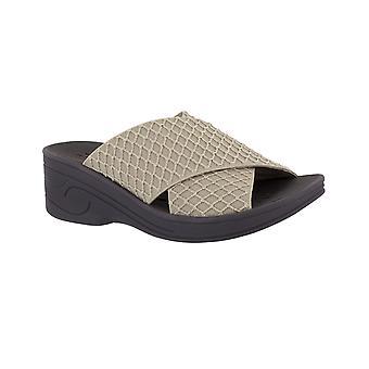 Easy Street Womens Agile sandalias de diapositivas casuales de punta abierta