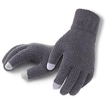Mannen gebreide winter herfst mannelijke touch screen handschoenen