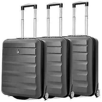 Aerolite (55x40x20cm) bagage à main léger de cabine à coque dure (ensemble x3)