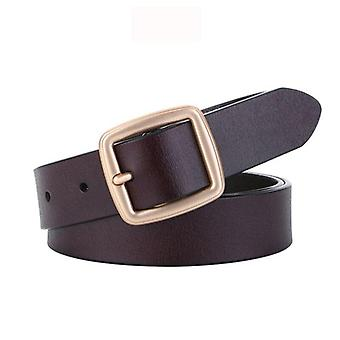 Women Genuine Leather High Quality Fashion Pin Buckle Waist Belt For Jeans