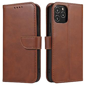 Flip folio leather case for xiaomi note 10 pro brown pns-2463