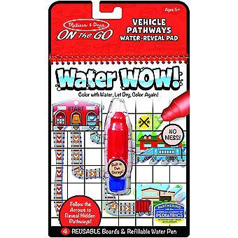 Melissa &doug vann wow - kjøretøy veier vann-avsløre pad