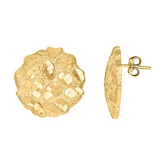 10k Yellow Gold Mens Nugget Stud Earrings Jewelry Gifts for Men - 3.6 Grams