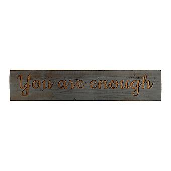 Hill Interiors You Are Enough Wooden Plaque