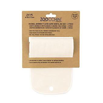 ZOOCCHINI 2-pack Reusable Absorbent 4 Layer Diaper Inserts