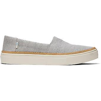 TOMS Parker Tissé Ladies Tissu Slip Sur Chaussures Gris