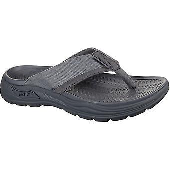 Skechers men's arch fit motley dolano summer sandal charcoal 32209