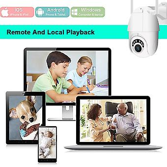 HD 1080p واي فاي IP كاميرا لاسلكية ptz التكبير الدوائر التلفزيونية المغلقة الأمن المنزلي 60m ir كاميرا للماء ip66 في الهواء الطلق