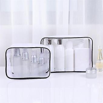 شفافة للماء مرحاض المحمولة السفر حقيبة مستحضرات التجميل