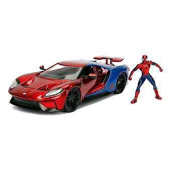 Marvel Comics - Spiderman 2017 Ford GT Die-cast Toy Sports Car